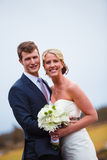 Bride and Groom Wedding Day Portrait Stock Images