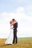 Bride and Groom Wedding Day Portrait Stock Photos
