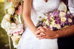 Bride and groom on wedding day. Stock Image