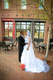 Bride and Groom on wedding day Stock Photo