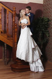The bride and groom on the wedding day. Royalty Free Stock Photography