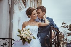 Bride and Groom. Wedding photo Royalty Free Stock Photography