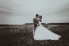 Bride and groom wedding portraits Stock Photography