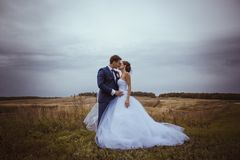 Bride and groom wedding portraits Royalty Free Stock Photography