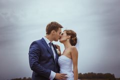 Bride and groom wedding portraits Royalty Free Stock Photo