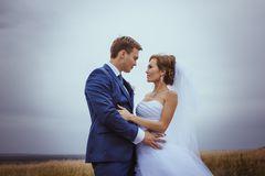 Bride and groom wedding portraits Stock Image