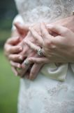 Bride And Groom Wedding Rings Royalty Free Stock Photography