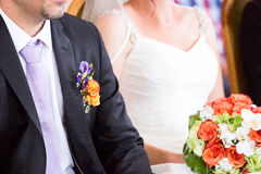 Bride and groom at wedding Royalty Free Stock Photos