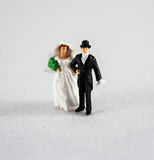 Bride and groom on white Royalty Free Stock Photos