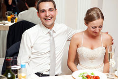 Bride and groom. Young happy Bride and groom Royalty Free Stock Photography