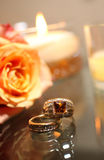 Bride and Grooms rings - non-traditional Royalty Free Stock Photography