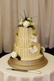 Bride and grooms wedding cake Stock Photography
