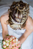 Bride Hair From Above Royalty Free Stock Photo