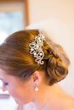 Bride Hair Piece Stock Image