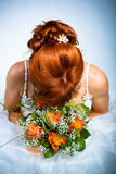 Bride hairstyle. A example of bride hairstyle Stock Photo
