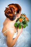 Bride hairstyle Stock Image