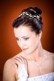 Bride hairstyle Royalty Free Stock Photography