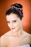 Bride hairstyle Royalty Free Stock Images