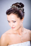 Bride hairstyle Stock Photos