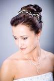 Bride hairstyle Stock Photos