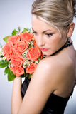 Bride hairstyle Royalty Free Stock Photo