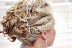 Bride hairstyle Royalty Free Stock Image