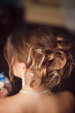 Bride hairstyle. Wedding. Perfect style Stock Photos