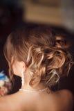Bride hairstyle. Wedding. Perfect style Stock Photos