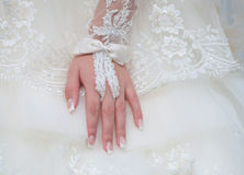Bride hand Royalty Free Stock Photography
