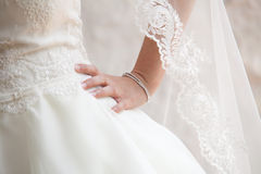 Bride hand Stock Photo
