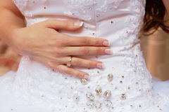 Bride hand and nails Stock Image