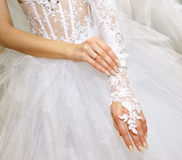 Bride hands Royalty Free Stock Image