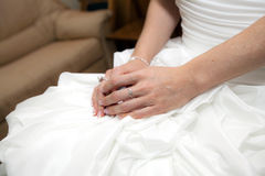 Bride hands Royalty Free Stock Images