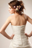 Bride with  hands on her waist Royalty Free Stock Photos