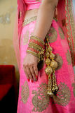 Bride. Hands of an Indian bride adorned with jewellery and bangles Stock Image