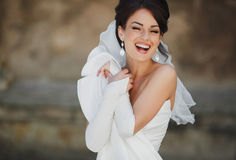 Bride. Happy luxurious elegant seductive bride Stock Images