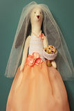Bride hare toy. Bride hare in  wedding dress Royalty Free Stock Image