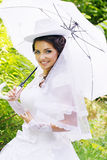 Bride in a hat Royalty Free Stock Images