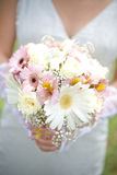 The bride have wedding bouquet. The bride have pink wedding bouquet Royalty Free Stock Images