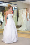 Bride having final fitting Stock Photography