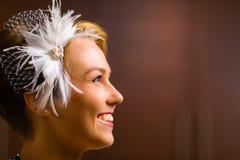 Bride and head piece Stock Image