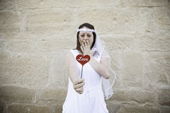 Bride with heart Royalty Free Stock Images