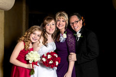 Bride With Her Family royalty free stock photography