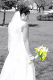 Bride and her Flowers Royalty Free Stock Photo