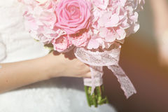 Bride with her nice bouquet Stock Photography