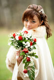 Bride on her wedding day Royalty Free Stock Photography