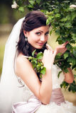 Bride in her wedding day Royalty Free Stock Image