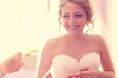 Bride on her wedding day Stock Image
