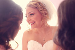 Bride on her wedding day Royalty Free Stock Image