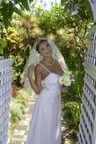 Bride on her wedding day Stock Photos